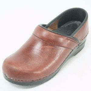 DANSKO Professional Brown Leather Clogs 7